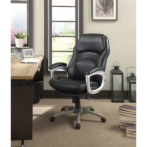 Serta - Back in Motion Health & Wellness Executive Chair - Black