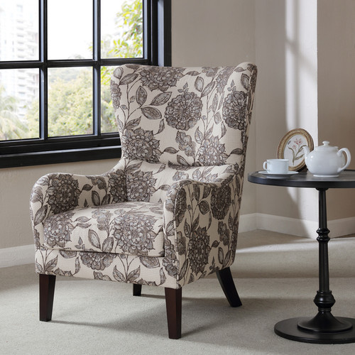 Madison Park Leda Multi Swoop Wing Chair