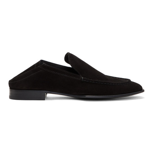 Black Suede Convertible Alix Loafers