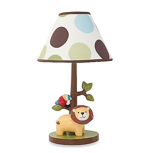 Lambs & Ivy Treetop Buddies Lamp Base with Shade and Bulb