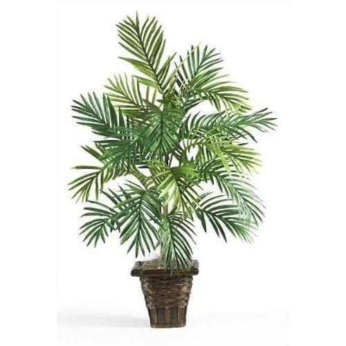 Areca Palm w/Wicker Basket Silk Plant Areca Palm w/Wicker Basket Silk Plant