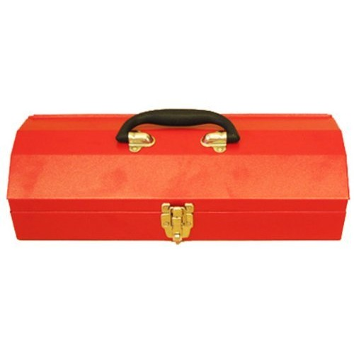 Excel TB102-Red 16-Inch Portable Steel Tool Box, Red