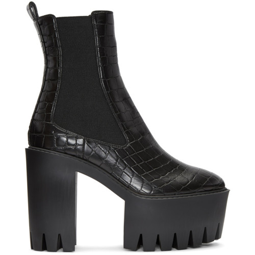 STELLA MCCARTNEY Black Croc Monster Boots
