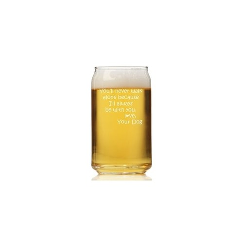 You'll Never Walk Alone Can Glass (Set of 4)