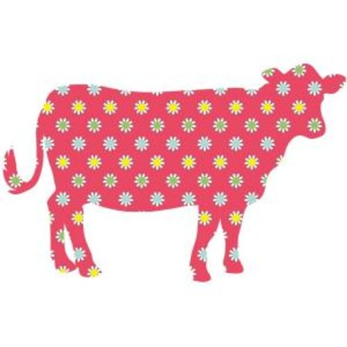 ZooWallogy 37 in. x 24 in. Dakota the Cow Wall Decal