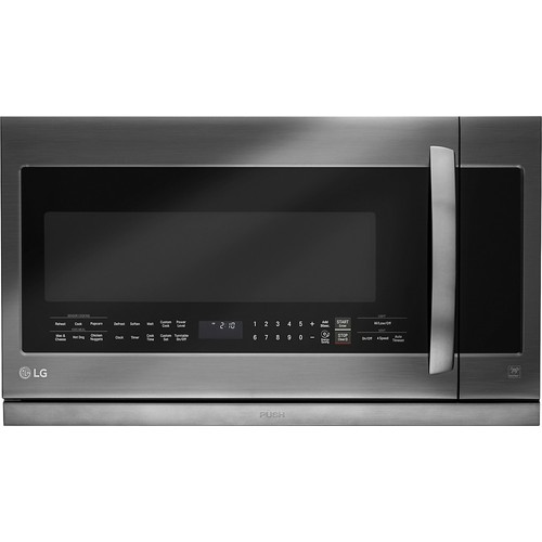 LG 2.2 cu.ft. Over-the-Range Microwave Oven - Black Stainless Steel