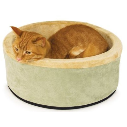 K&H Manufacturing Thermo Kitty Bolster/Donut; Sage