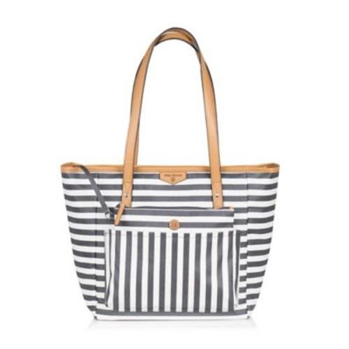TWELVElittle Everyday Tote Plus Diaper Bag in Grey Stripe