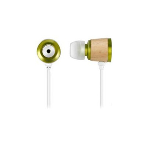 Zenex Wooden Chamber Boost Headphones, Green