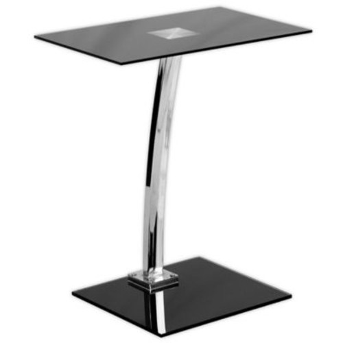 Flash Furniture 22.75-Inch Clear Computer Desk in Black