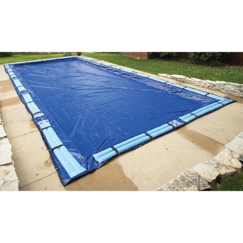 Blue Wave 15-Year 14 ft. x 28 ft. Rectangular Royal Blue In Ground Winter Pool Cover