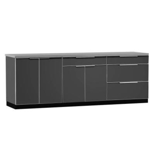 Age Products Aluminum Slate 4-Piece 97x36x24 in. Outdoor Kitchen Cabinet Set