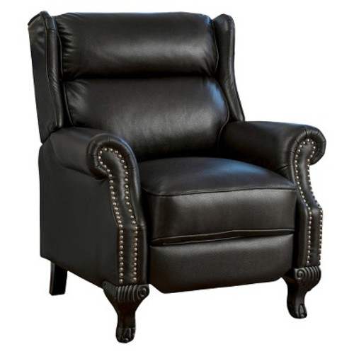Tauris PU Leather Recliner Club Chair Black - Christopher Knight Home