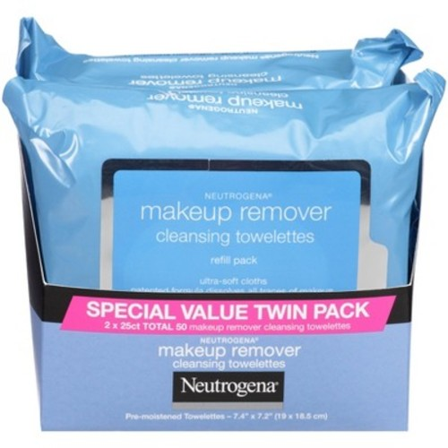 Neutrogena Makeup Remover Cleansing Towelettes Refill Pack -2 Pk