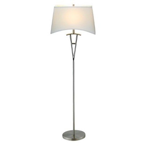 Adesso Taylor 62 in. Satin Steel Floor Lamp