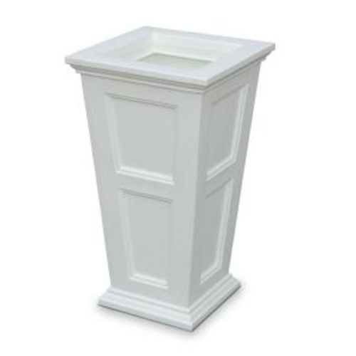 Mayne Fairfield 16 in. Square White Plastic Column Planter