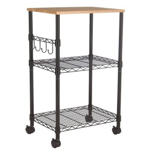 Microwave Cart - Black - Room Essentials