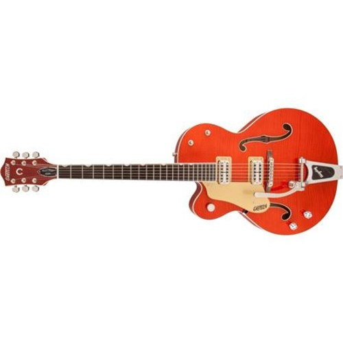 Gretsch G6120SSU Brian Setzer Nashville Left-Handed Guitar with Case, Orange 2400126812