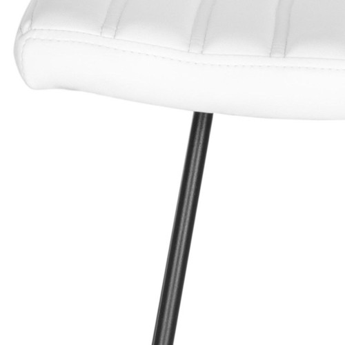 Safavieh Mid-Century Dining Akito Modern White 30-inch Bar Stool (Set of 2)
