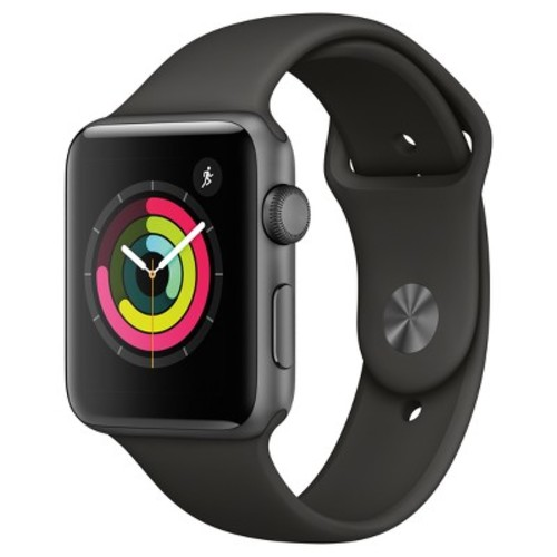 Apple Watch Series 3 (GPS) 42mm Space Gray Aluminum Case with Gray Sport Band