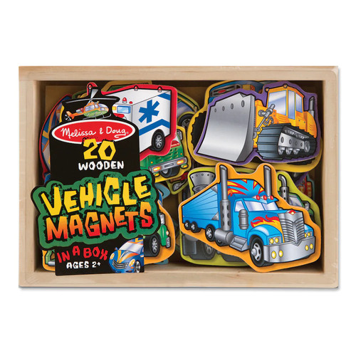 Melissa and Doug 1123844 Wooden Vehicles Magnets