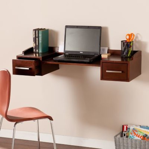 SEI Bingham Wall Mount Desk - Espresso (HO6101)