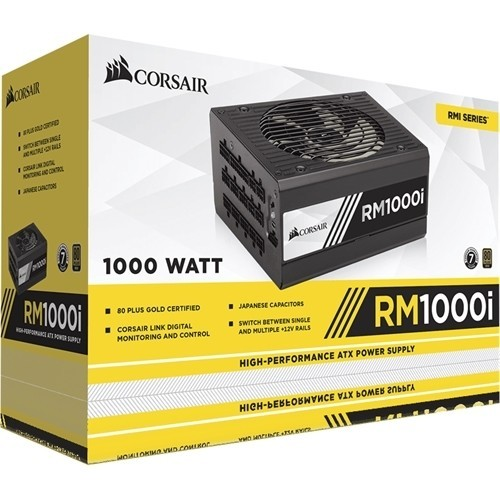 CORSAIR - RMi Series 1000W Fully Modular ATX Power Supply - Black