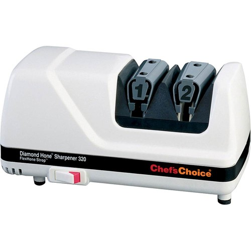 Chef'sChoice - Diamond Hone FlexHone/Strop Electric Knife Sharpener - White