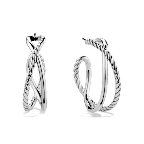 Crossover Hoop Earrings