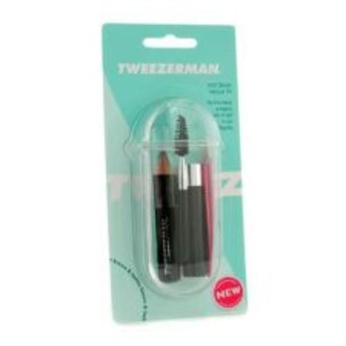 Tweezerman Mini Brow Rescue Kit: Slant Tweezer + Browmousse + Brow Brush + Eyenhance Brow Highlighter + Case