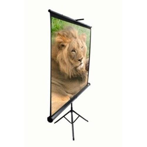 Elite Screens Tripod, 99-inch, Adjustable Multi Aspect Ratio Portable Pull Up Projection Projector Screen, T99UWS1 [1:1, 99-inch, Tripod Series - Black]