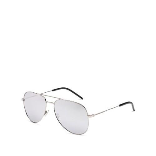 SAINT LAURENT Classic Mirrored Aviator Sunglasses, 54Mm