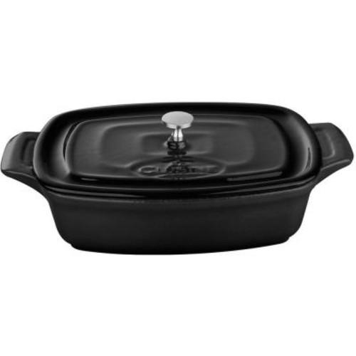 La Cuisine 7 in. Cast Iron Mini Rectangular Casserole in Black