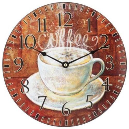 La Crosse Technology 12 in. H Round Coffee Decor Analog Wall Clock