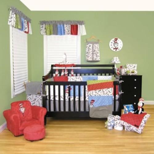 Trend Lab Dr. Seuss Cat in the Hat 3-Piece Crib Bedding Set