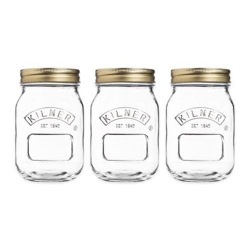 Kilner 17 oz. Preserve Twist Top Canning Jars (Set of 3)