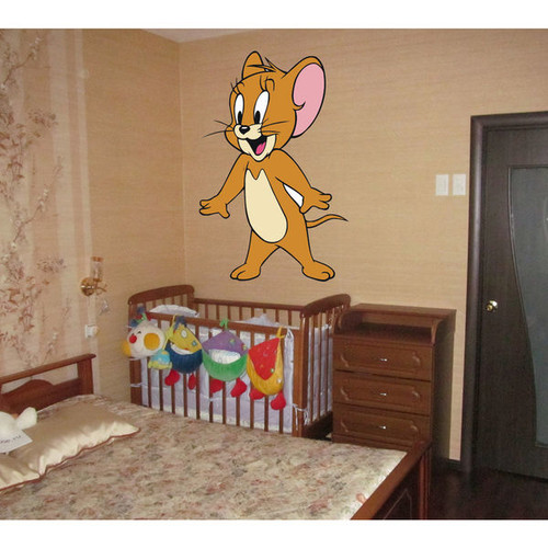 Tom & Jerry Full Color Decal, Full color sticker, colored Tom & Jerry Sticker Decal size 22x35