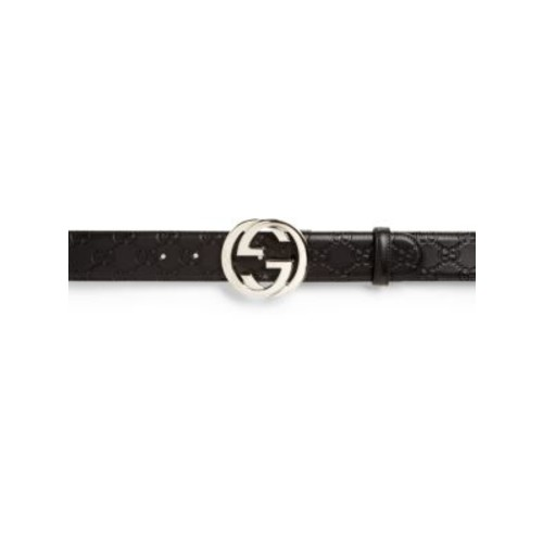 GUCCI Embossed Interlocking G Belt