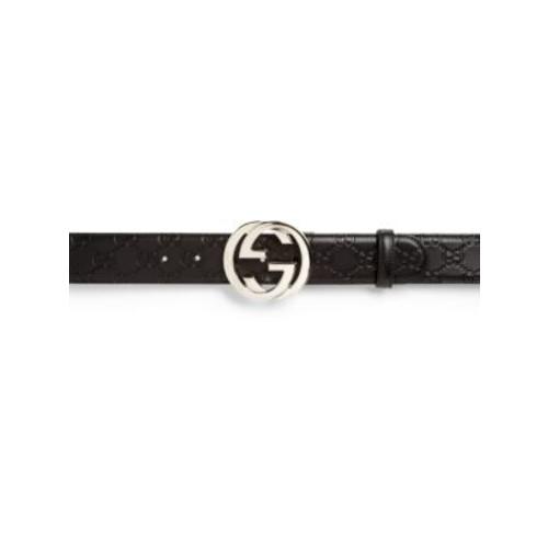 GUCCI Embossed Interlocking G Belt