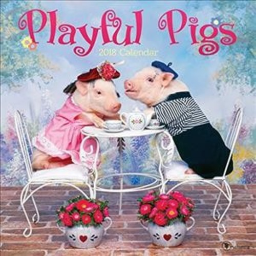 Playful Pigs 2018 Calendar (Paperback)