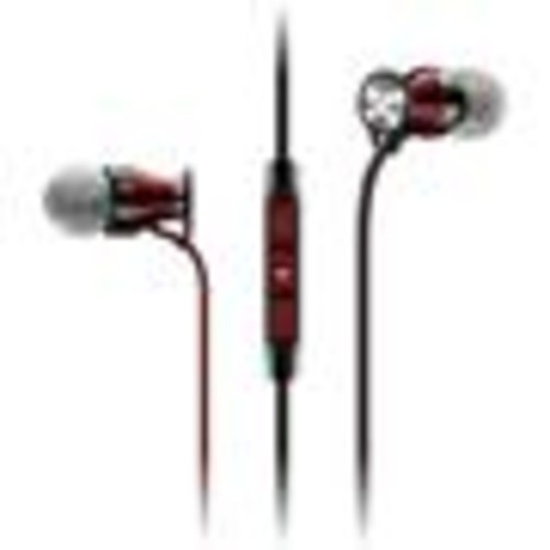 Sennheiser HD 1 In-ear (Black/Red) In-ear headphones with Apple remote and microphone