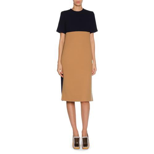 MARNI Short-Sleeve Colorblock Dress