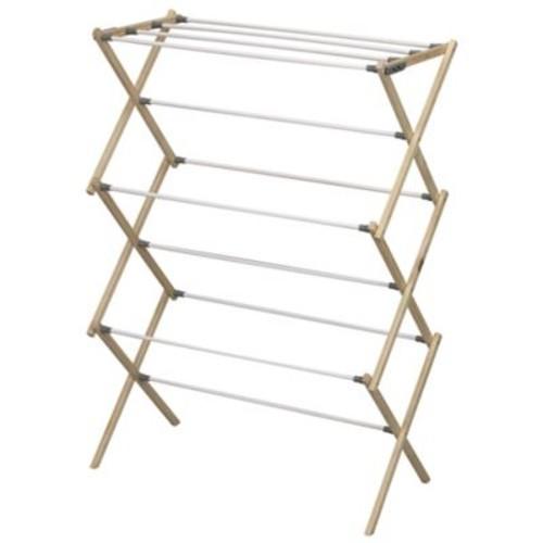 Household Essentials Pine Wood X-Frame Drying Rack