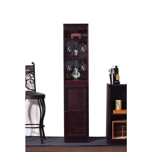 Concepts In Wood 21-Bottle Cherry Bar Cabinet