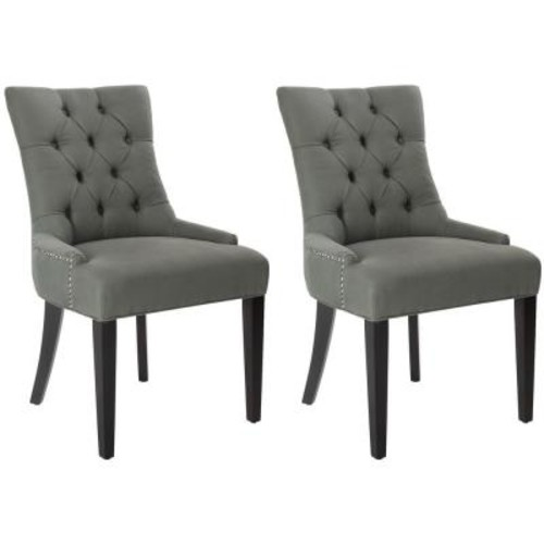 Safavieh Abby Sea Mist Linen Side Chair (Set of 2)