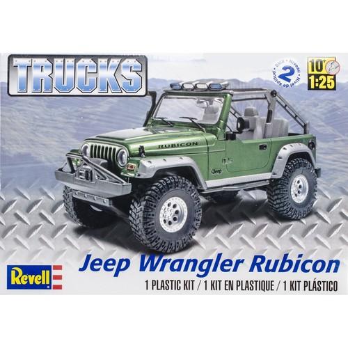 Revell of Germany Plastic Model Kit Jeep Wrangler Rubicon 1:25