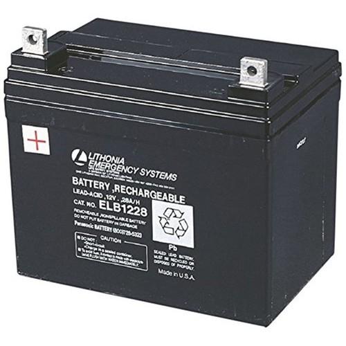 Lithonia Lighting ELB 1228 Lead Calcium 12-Volt Replacement Battery