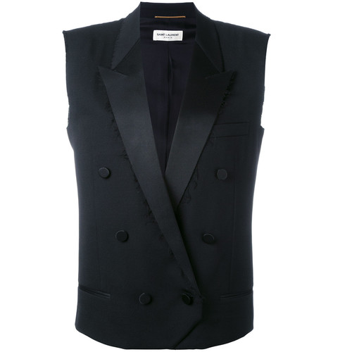 SAINT LAURENT Sleeveless Blazer Jacket