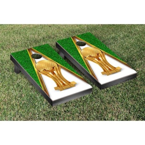 Victory Tailgate Golf Trophy Cornhole Bag Toss Game Set