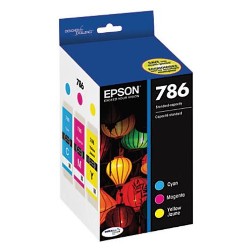 Epson DuraBrite Ultra T786520-S Cyan/Magenta/Yellow Ink Cartridges, Pack Of 3